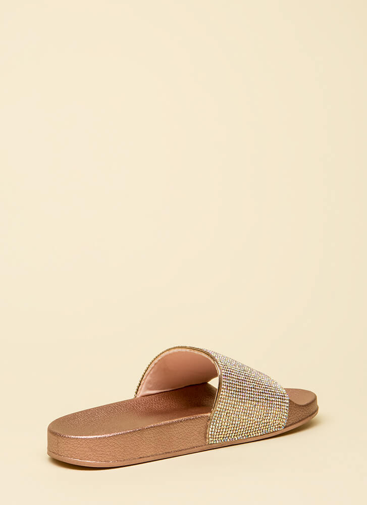 Sparkle In My Rhinestone Slide Sandals PENNY