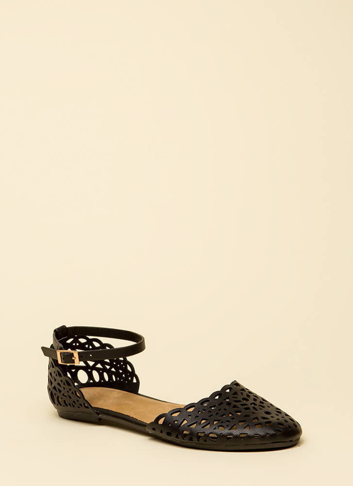 Cutie Latticed Closed Toe Sandals by Go Jane