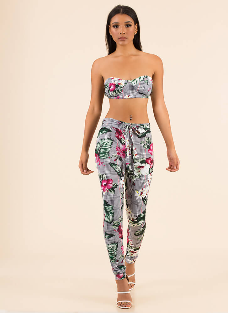 Fresh Prints Tropical Top And Pant Set by Go Jane