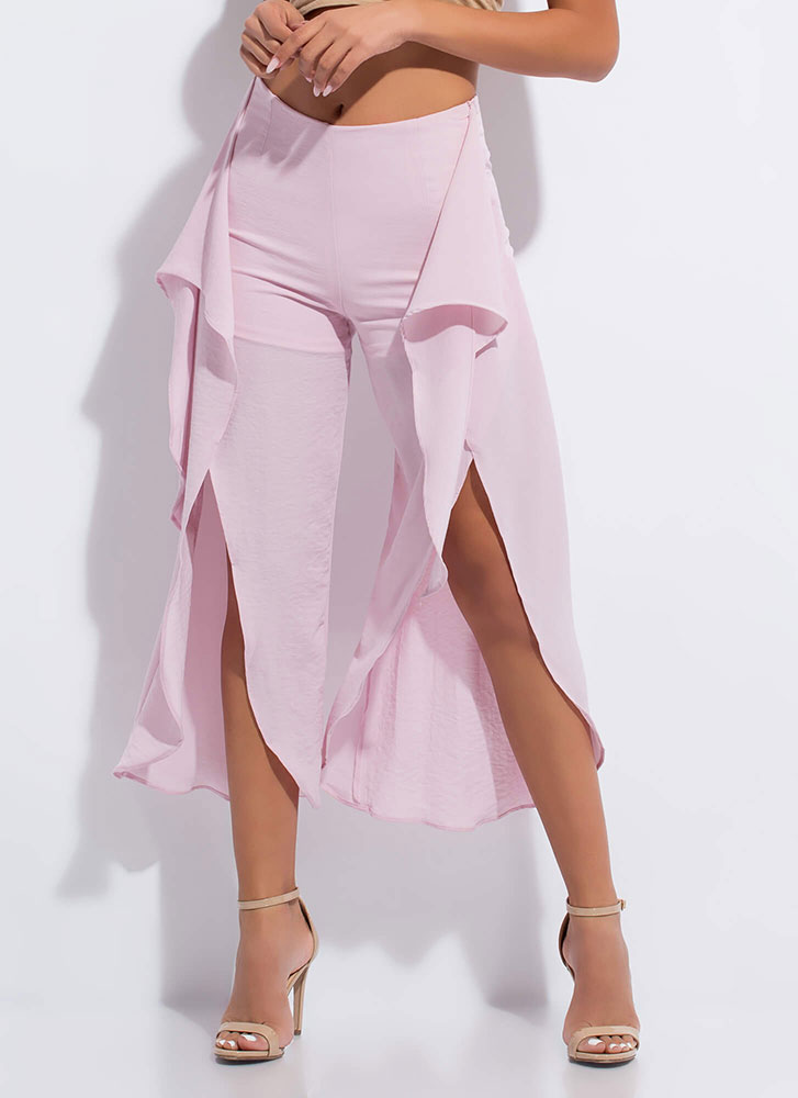 Light As Air Cropped Tie-Front Pants LAVENDER