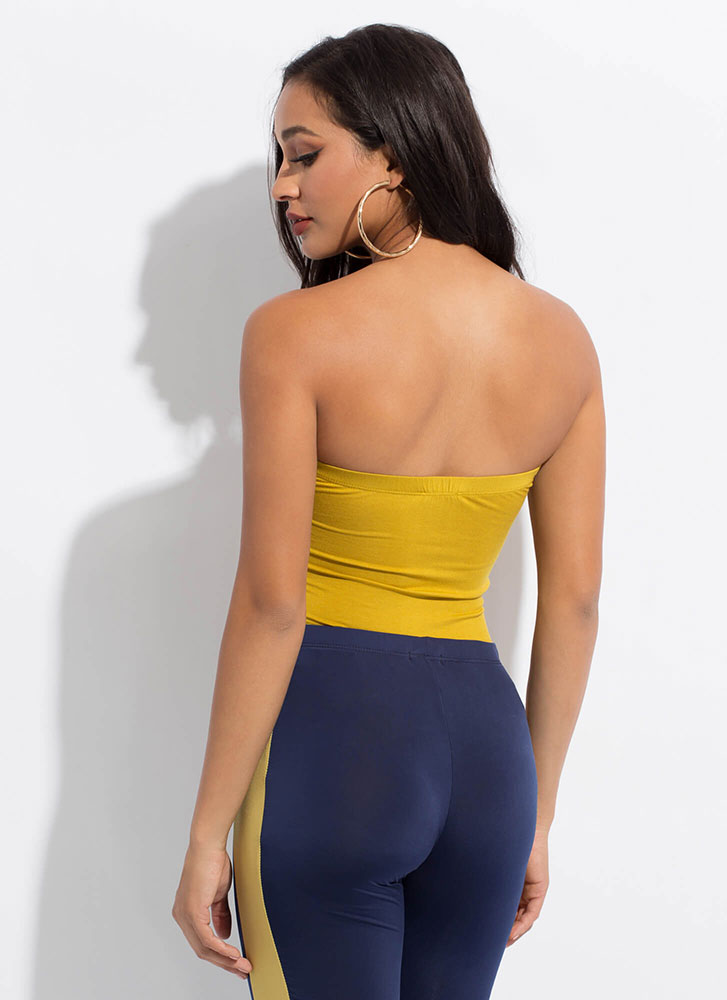 Under My Skin Strapless Bodysuit LEMON