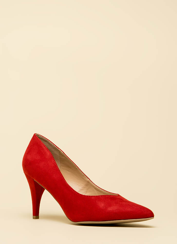 Point Me In The Right Direction Pumps RED