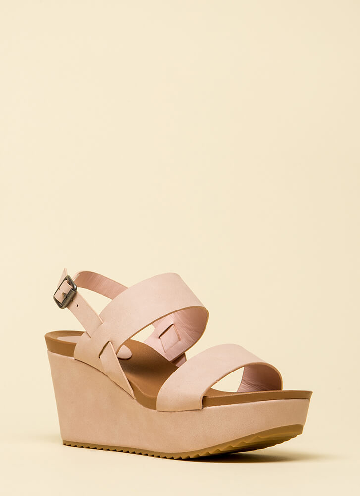 Remember This Day Platform Wedges BLUSH (You Saved $17)