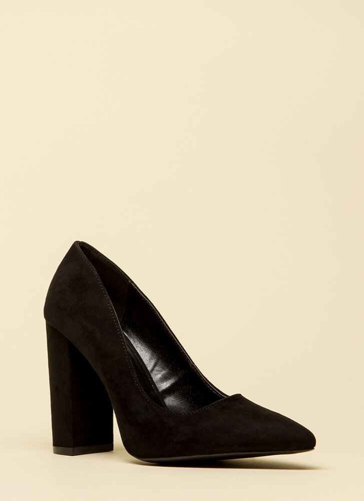 Chunky Pointy And Perfect Pumps BLACK