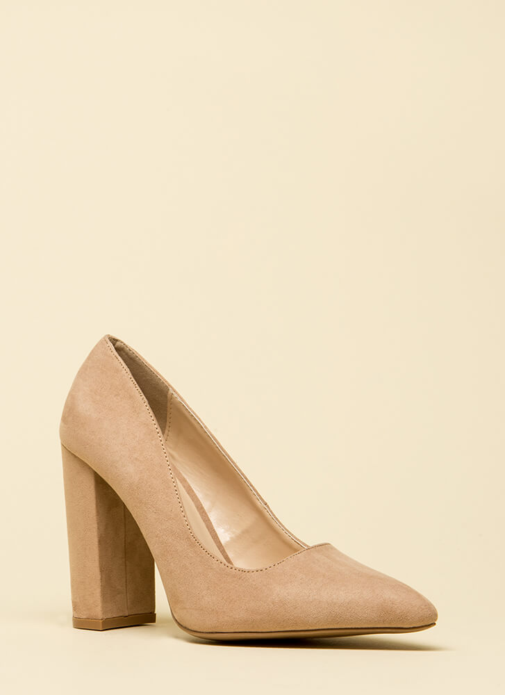 Chunky Pointy And Perfect Pumps WARMTAUPE