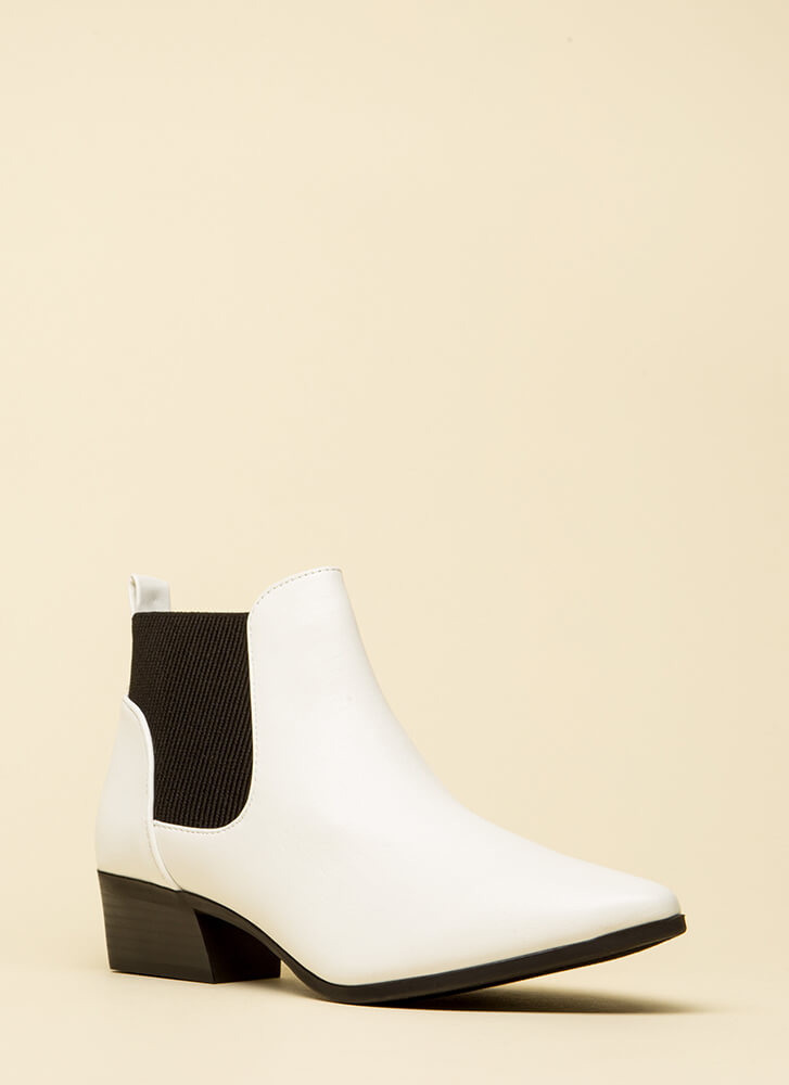 Ready For Anything Faux Leather Booties by Go Jane