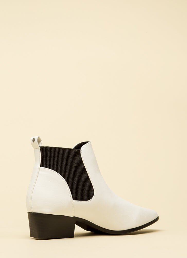Ready For Anything Faux Leather Booties WHITE