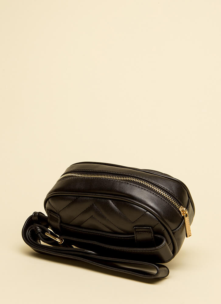 Quilty As Charged Stitched Fanny Pack BLACK