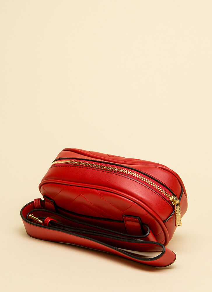 Quilty As Charged Stitched Fanny Pack RED