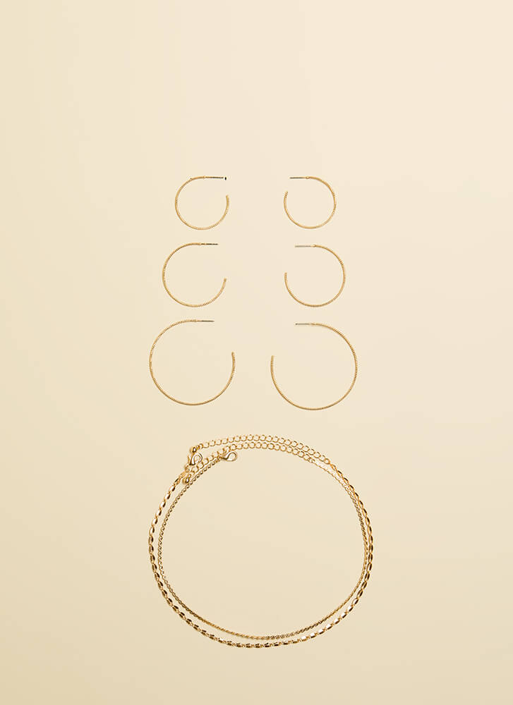 All You Need Choker And Earring Set GOLD