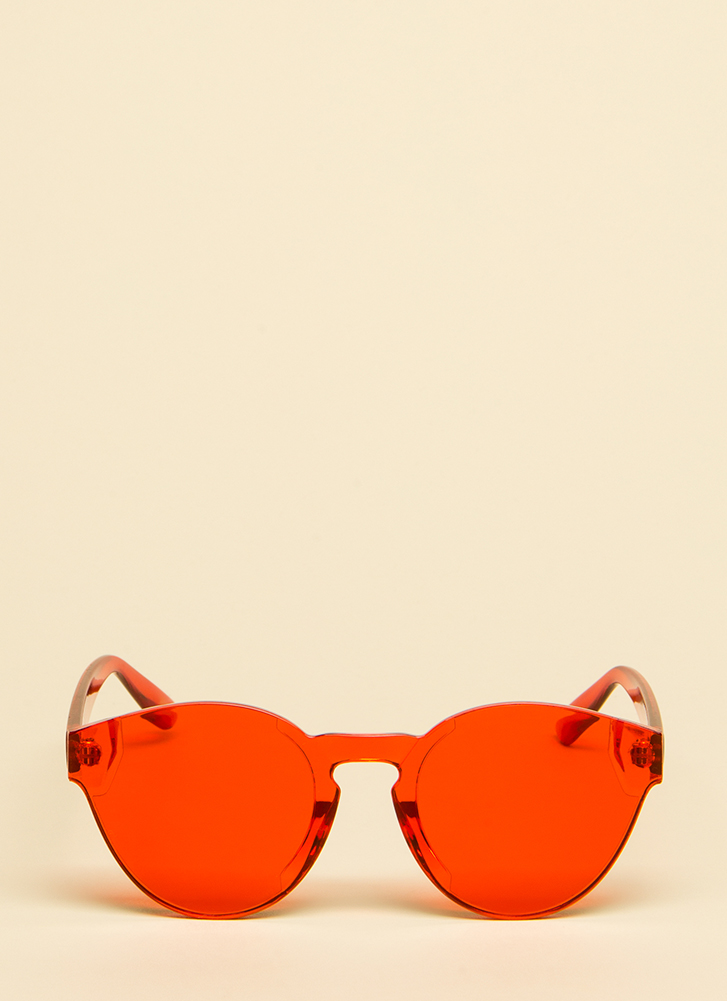 Have Some Fun Frameless Sunglasses RED