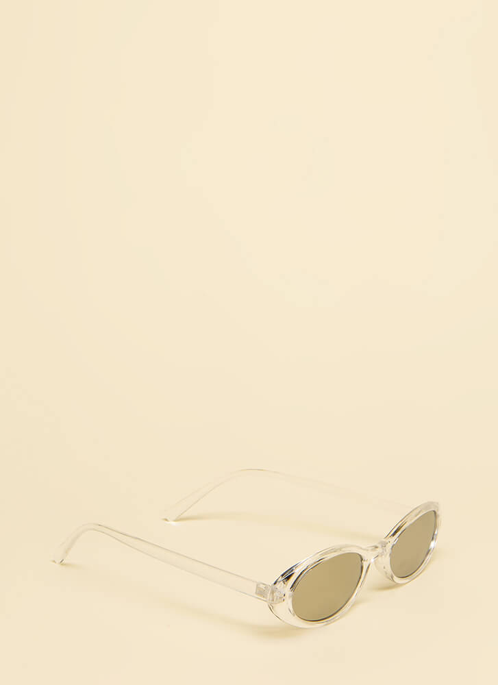 Get Oval It Clear Frame Sunglasses CLEAR