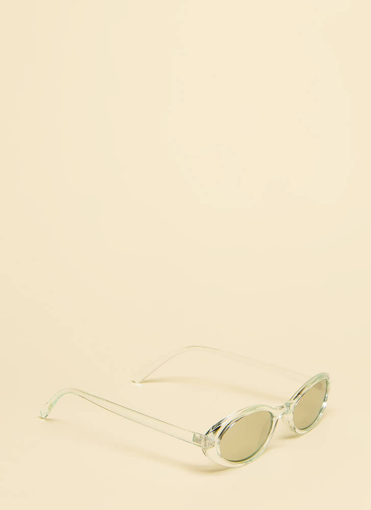 Get Oval It Clear Frame Sunglasses MINT