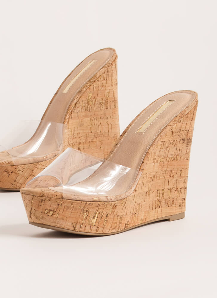 Clearly Must-Have Platform Wedges CORK