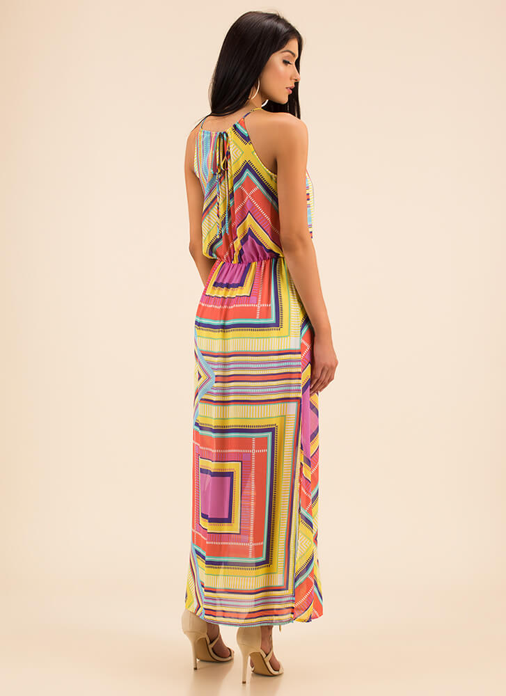 Shapes And Stripes Double Slit Maxi MULTI