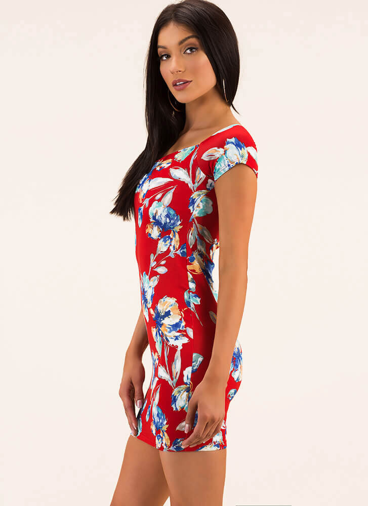 It Feels Like Spring Floral Minidress RED (You Saved $19)