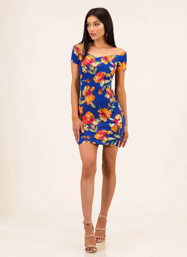 It Feels Like Spring Floral Minidress ROYAL (You Saved $19)