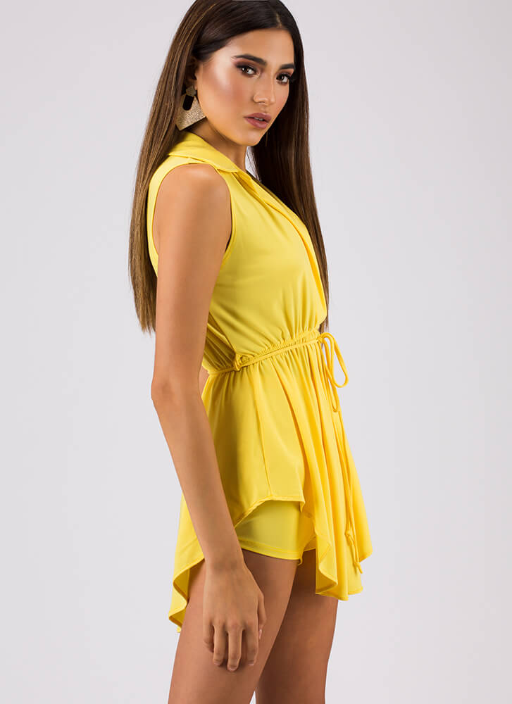 Fit And Flair Top And Shorts Set YELLOW