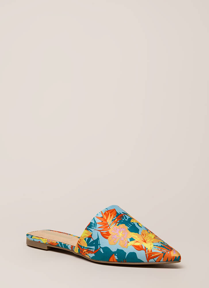 Slip Me A Message Pointy Mule Flats MULTI