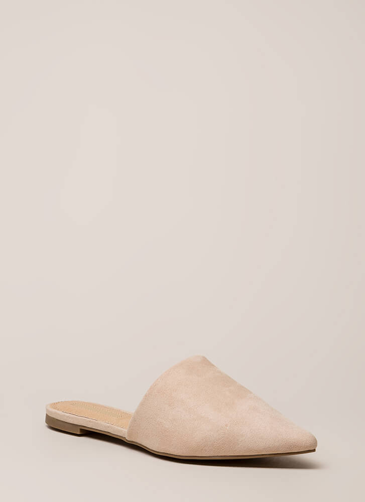Slip Me A Message Pointy Mule Flats by Go Jane