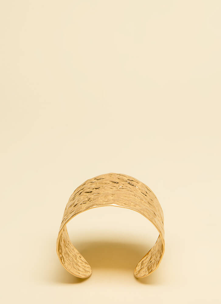 I Was So Hammered Textured Cuff GOLD