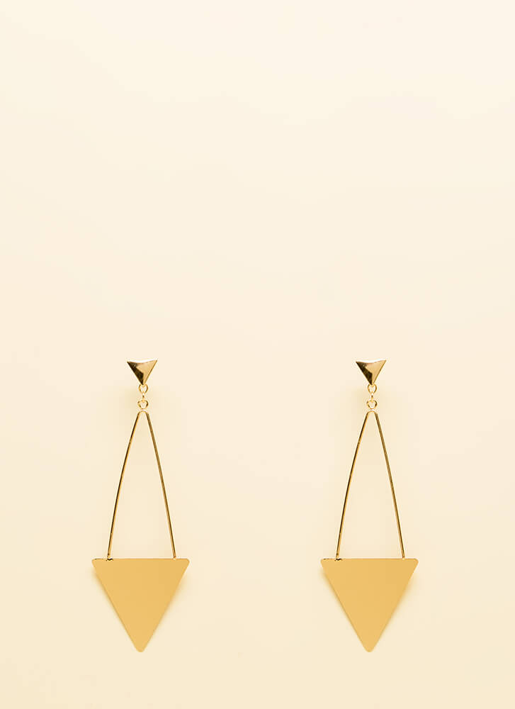 Right This Way Triangle Earrings GOLD