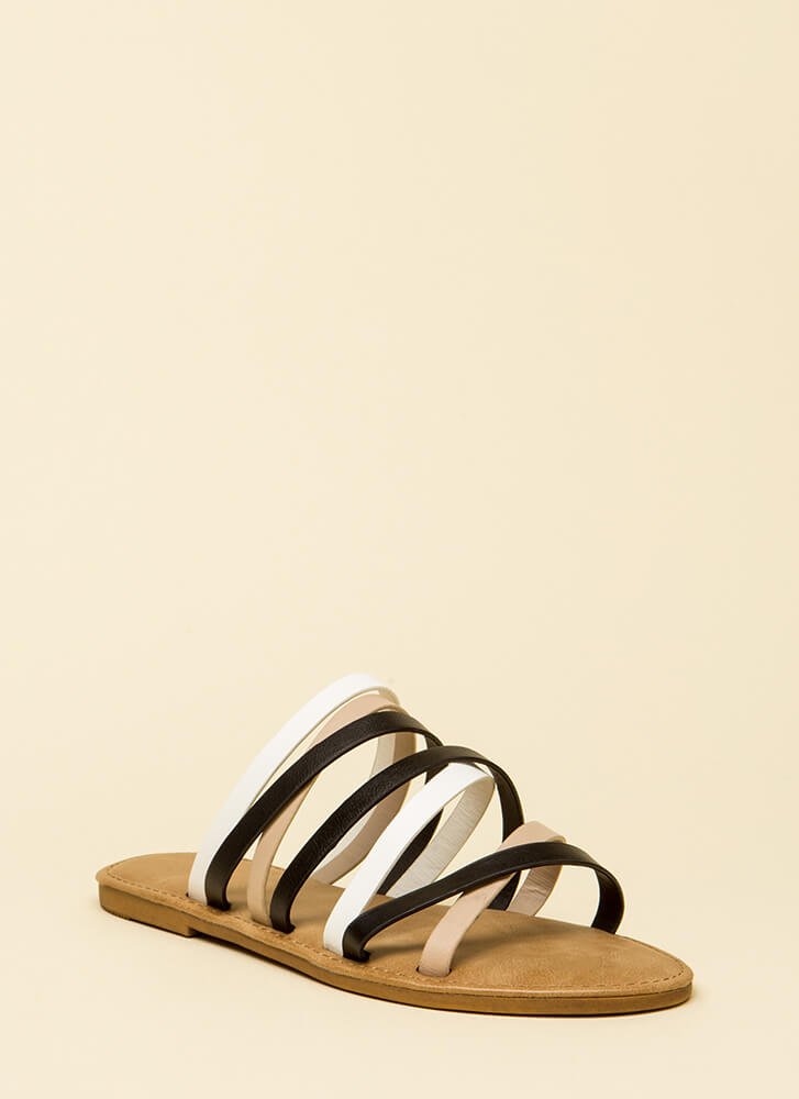 Don't Worry Be Strappy Sandals BLACKMULTI