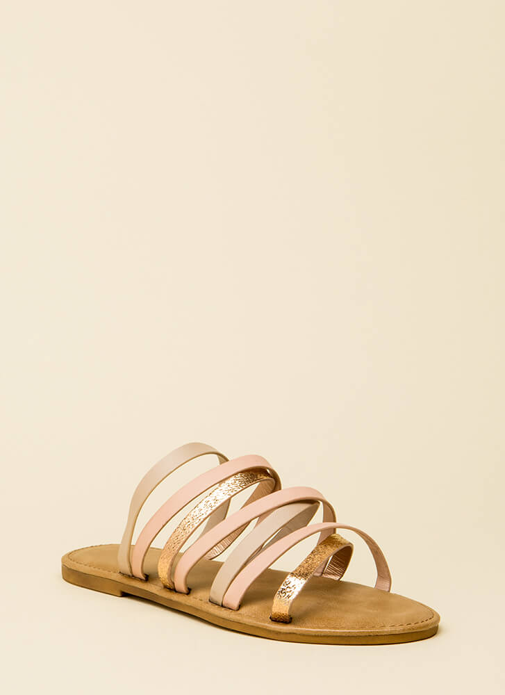 Don't Worry Be Strappy Sandals BLUSHMULTI