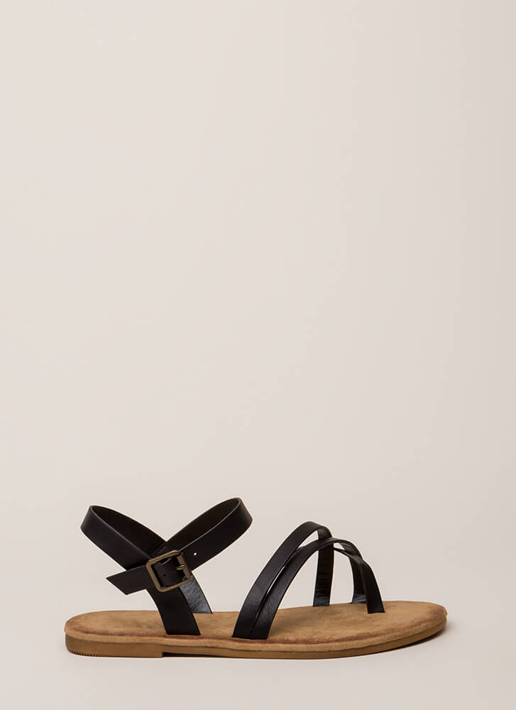 Sunday In The Park Strappy Sandals BLACK