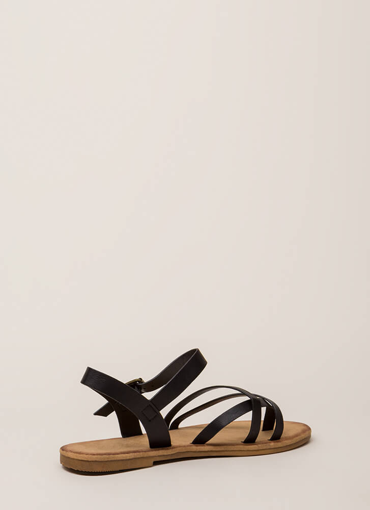 Sunday In The Park Strappy Sandals BLACK (You Saved $10)