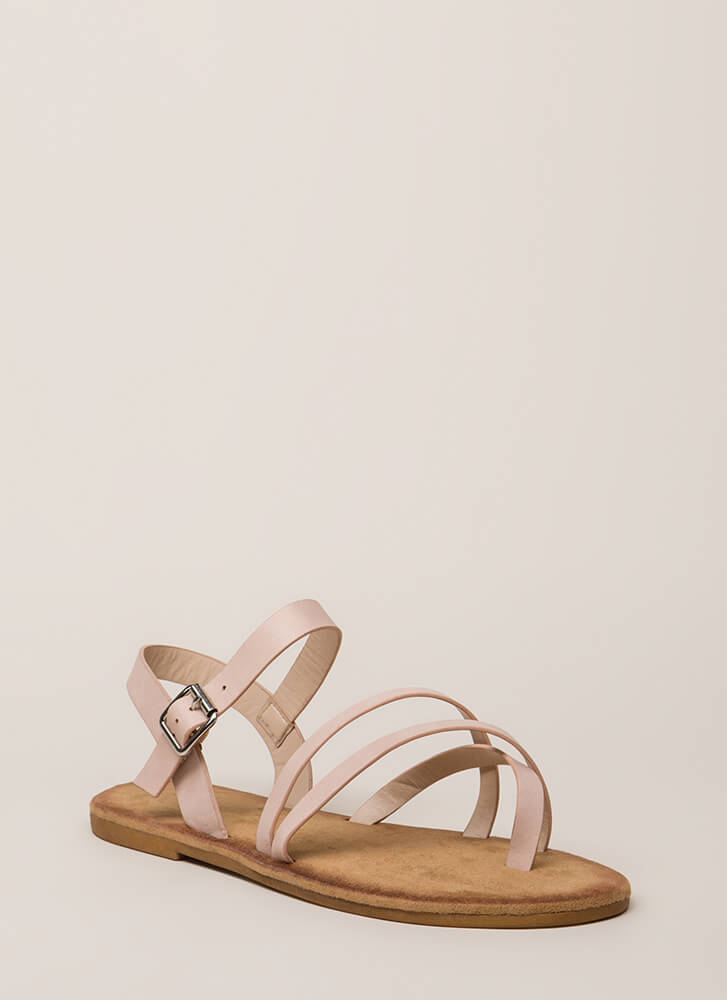 Sunday In The Park Strappy Sandals BLUSH (You Saved $10)