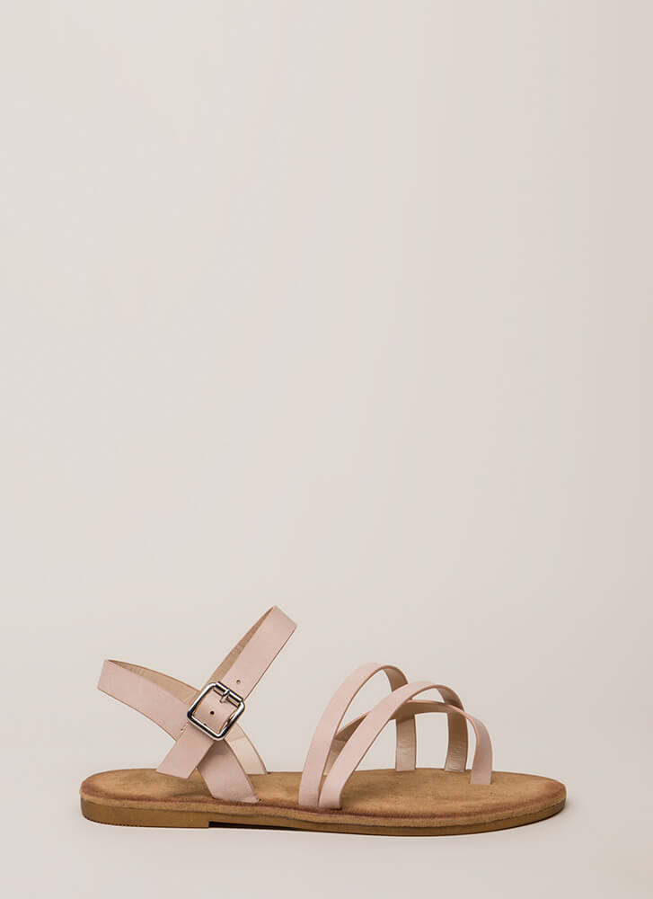 Sunday In The Park Strappy Sandals BLUSH
