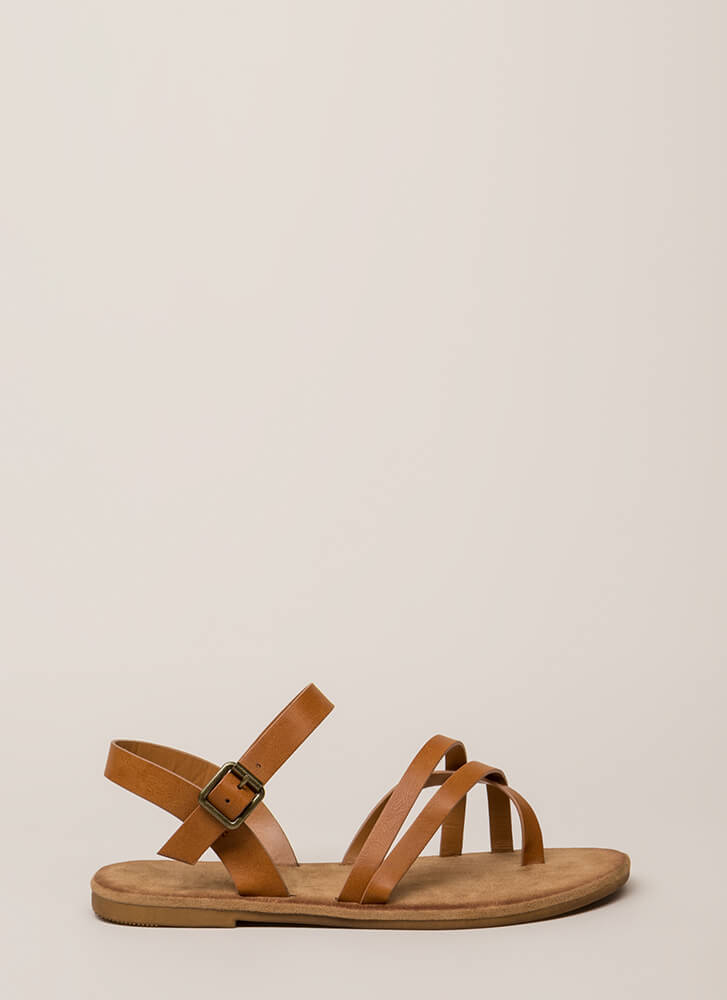 Sunday In The Park Strappy Sandals TAN