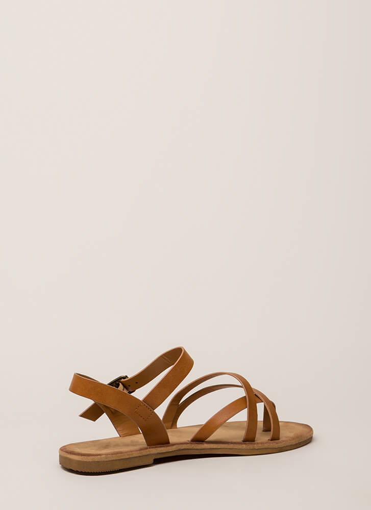 Sunday In The Park Strappy Sandals TAN (You Saved $10)
