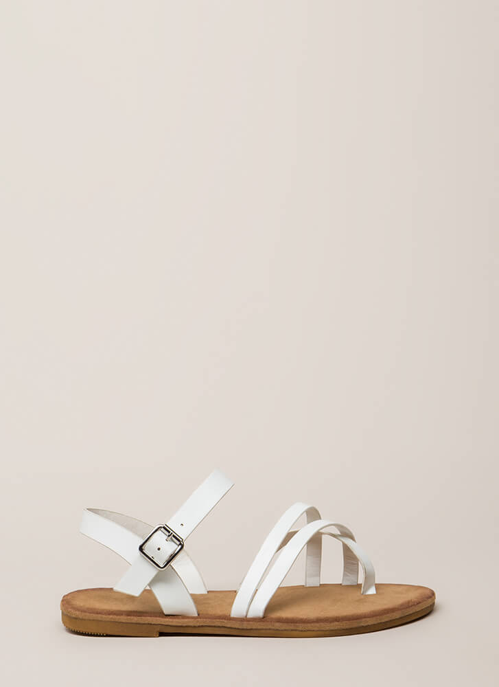 Sunday In The Park Strappy Sandals WHITE