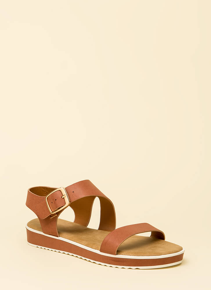 Besties Strappy Platform Sandals by Go Jane