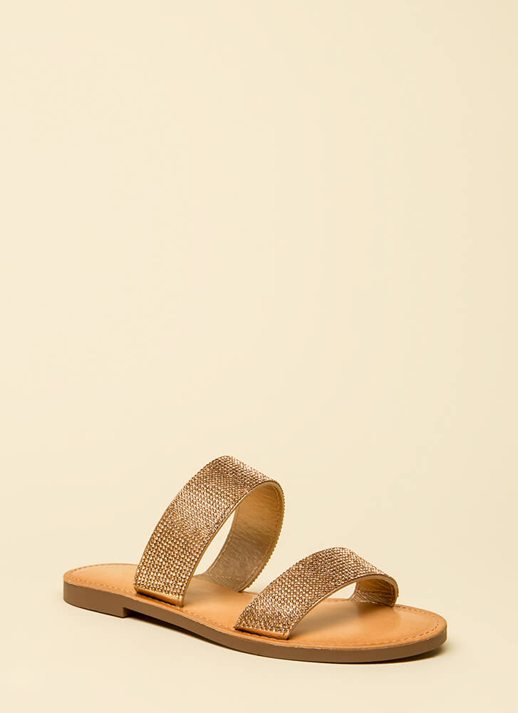 Time To Sparkle Rhinestone Slide Sandals PENNY (You Saved $15)