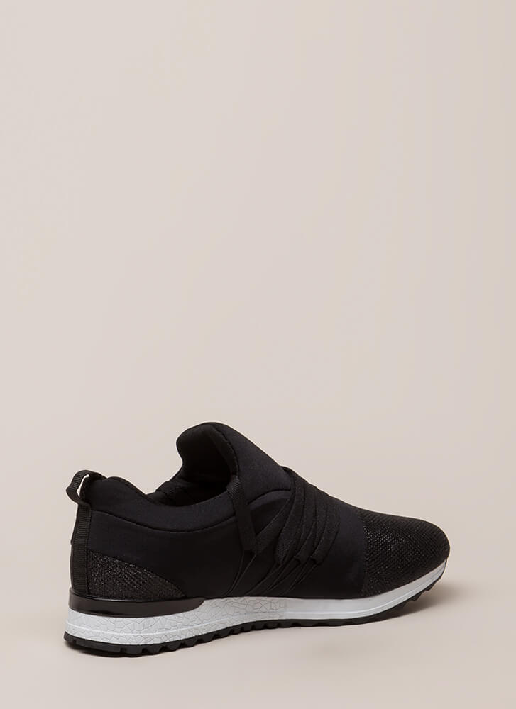 My Future Is Bright Metallic Sneakers BLACK