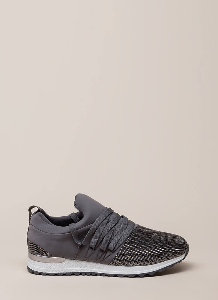 My Future Is Bright Metallic Sneakers CHARCOAL