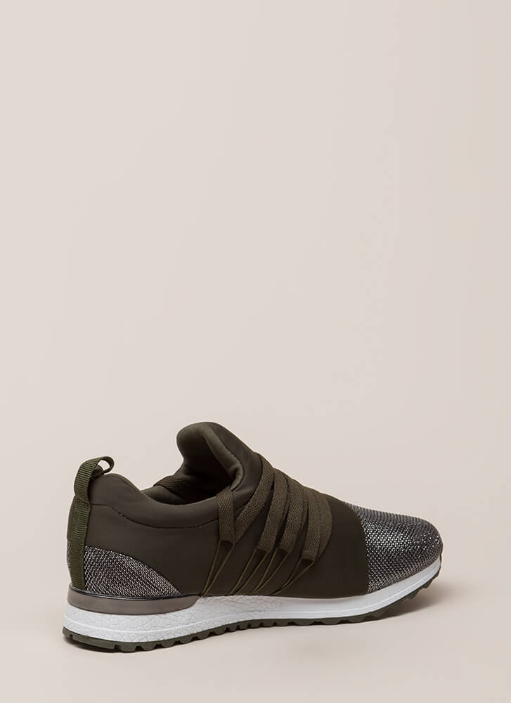 My Future Is Bright Metallic Sneakers KHAKI