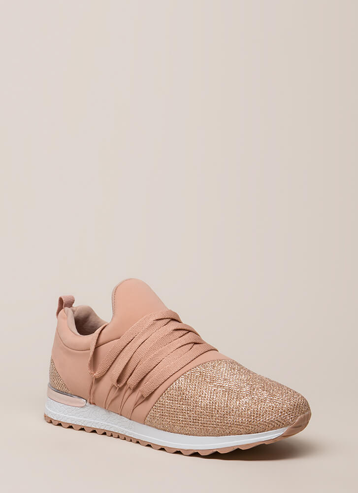 My Future Is Bright Metallic Sneakers NUDE