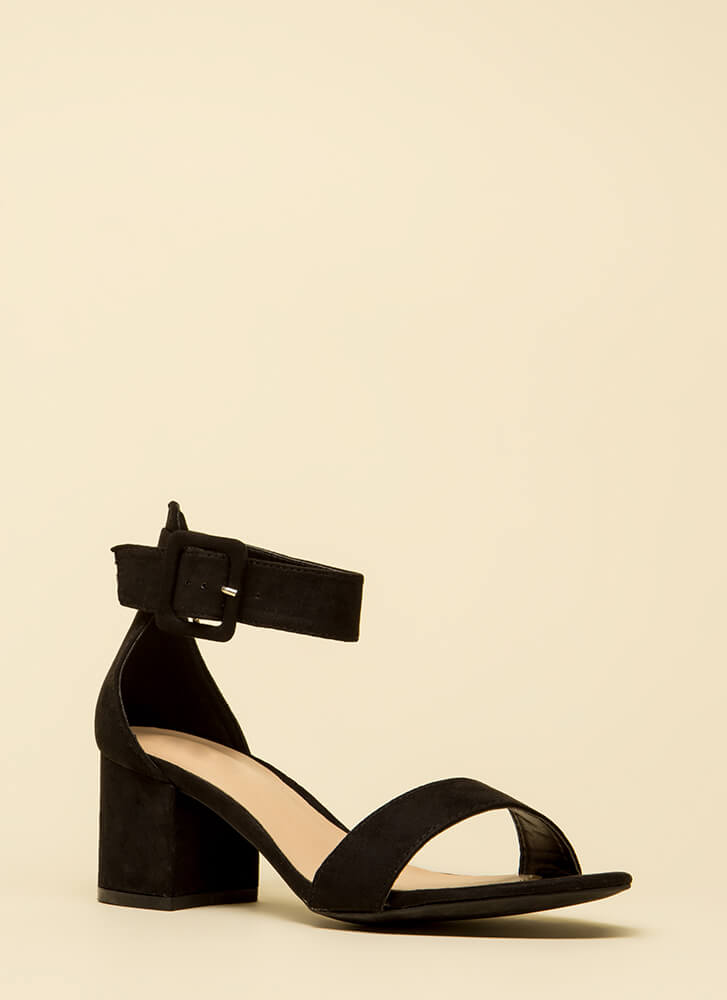 Style Points Faux Leather Block Heels by Go Jane