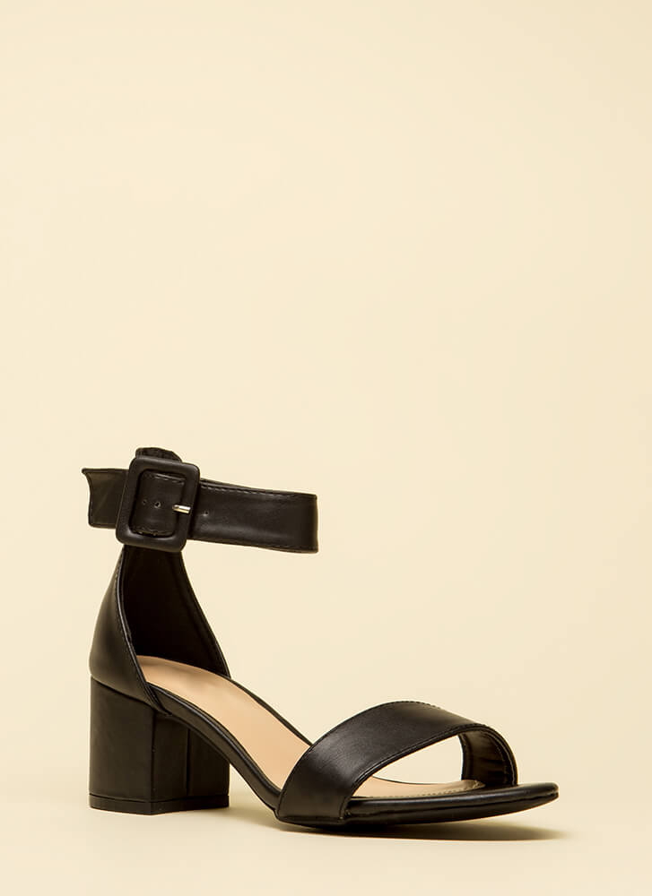 Style Points Faux Suede Block Heels by Go Jane