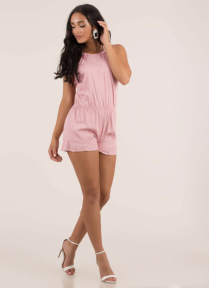 Can You Frill The Love Ruffled Romper PINK