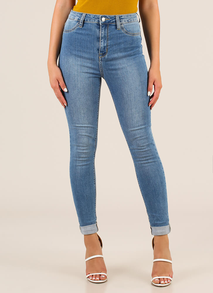 On The Daily High-Waisted Skinny Jeans BLUE