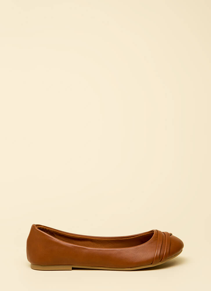 Wrap This Up Faux Leather Ballet Flats CHESTNUT