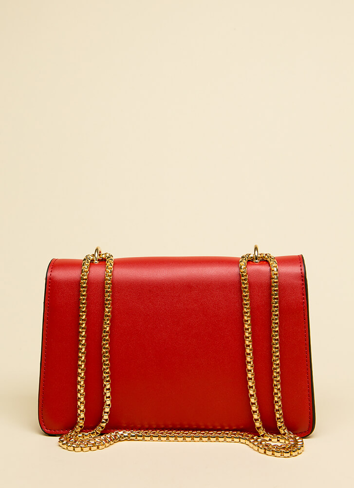 Playing Horseshoes Multi-Flap Purse RED