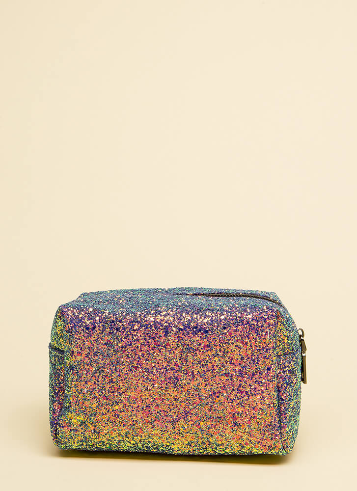 Glittery Nights Sparkly Makeup Pouch MULTI