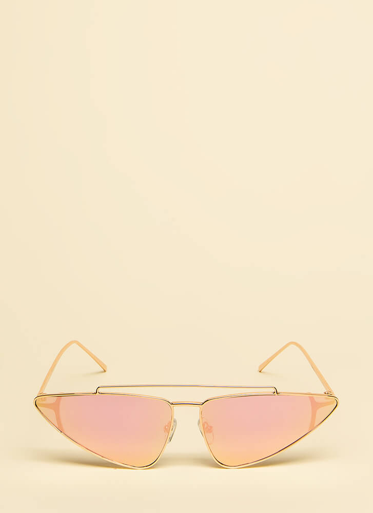 Which Direction Wire-Rim Sunglasses PINK