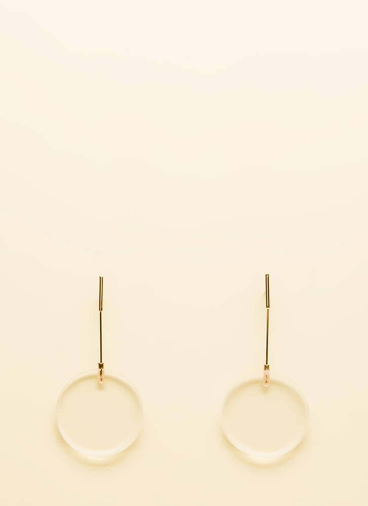 Clearly Innovative Disc Charm Earrings CLEAR